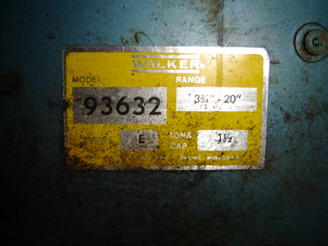 Walker Floor Jack identification [Archive] - The Garage Journal Board